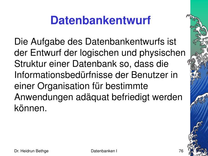 Datenbankentwurf