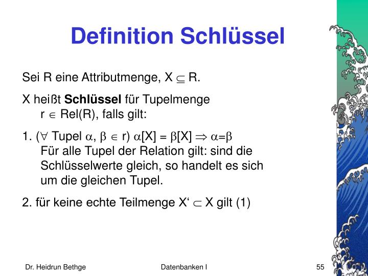 Definition Schlüssel