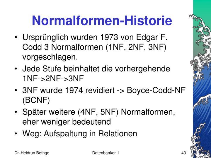 Normalformen-Historie