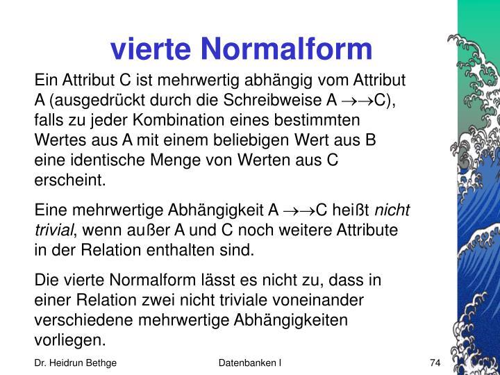 vierte Normalform