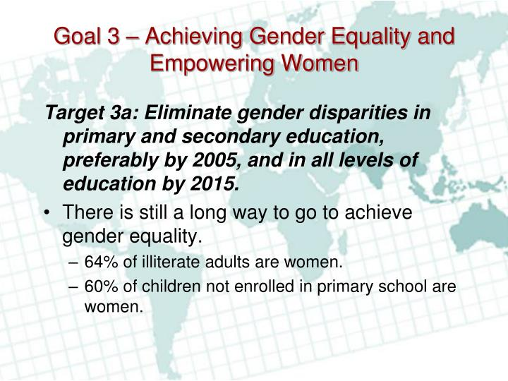 the goals and ways of achieving gender equality