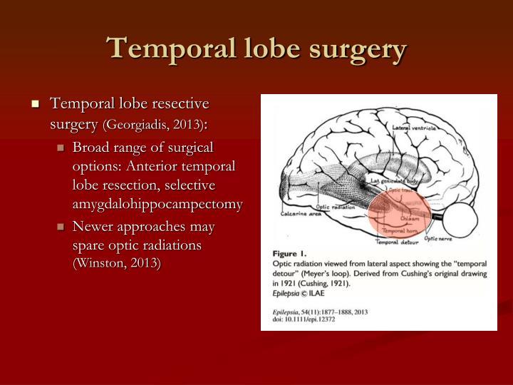 Temporal lobe surgery