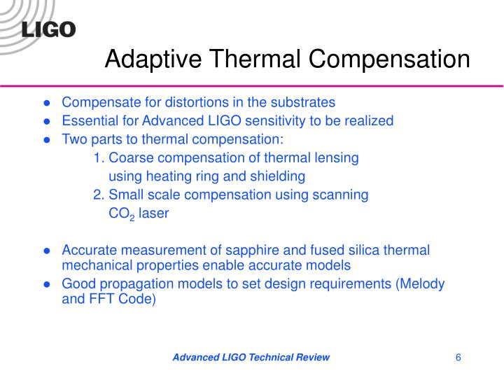 Adaptive Thermal Compensation
