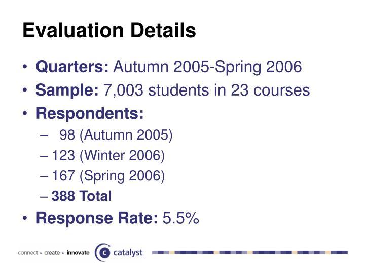 Evaluation Details