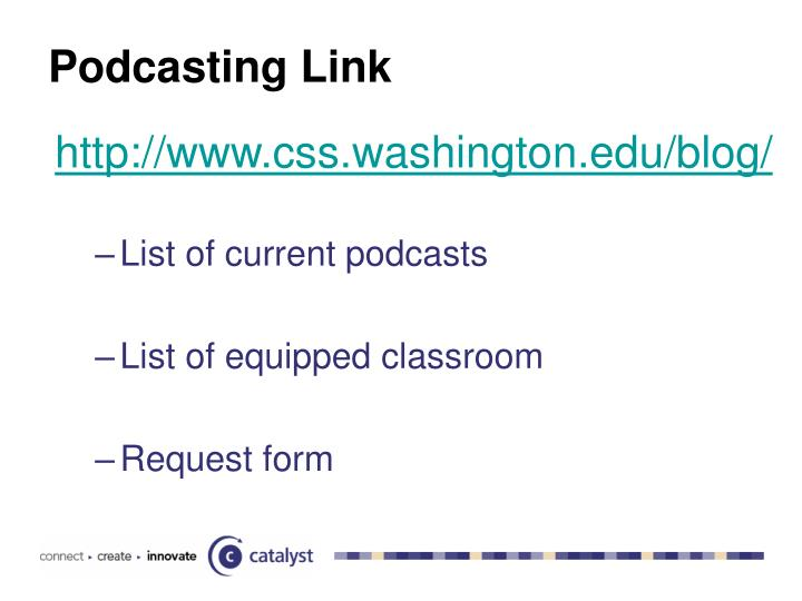 Podcasting Link
