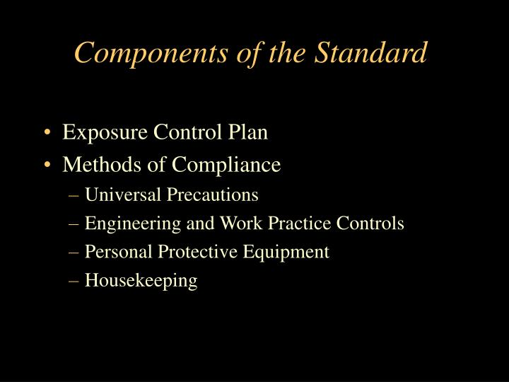Components of the standard