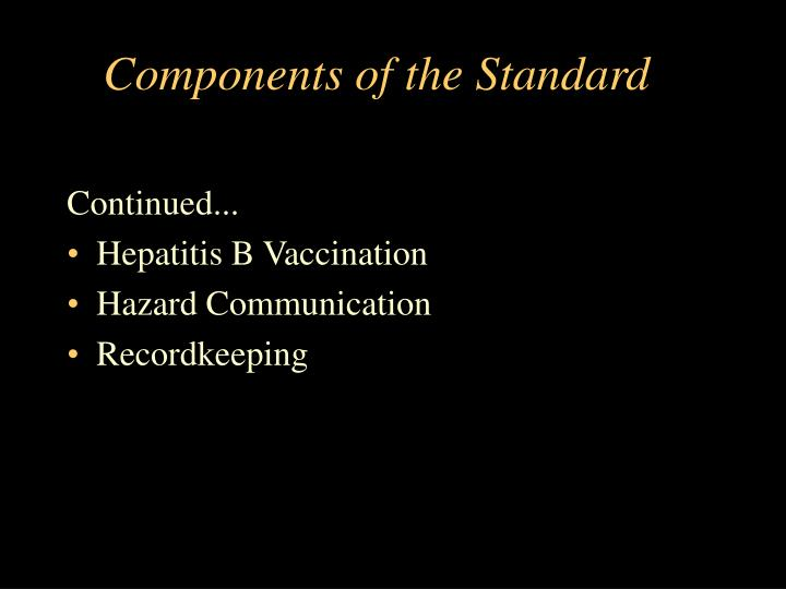 Components of the standard1