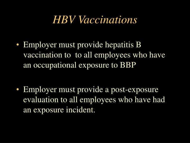 HBV Vaccinations
