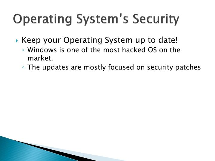 Operating System's Security