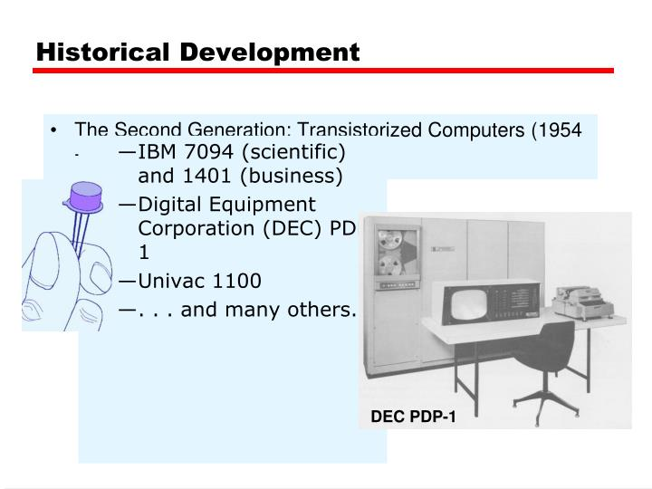 The Second Generation: Transistorized Computers (1954 - 1965)