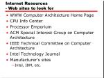 internet resources web sites to look for