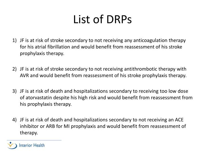 List of DRPs