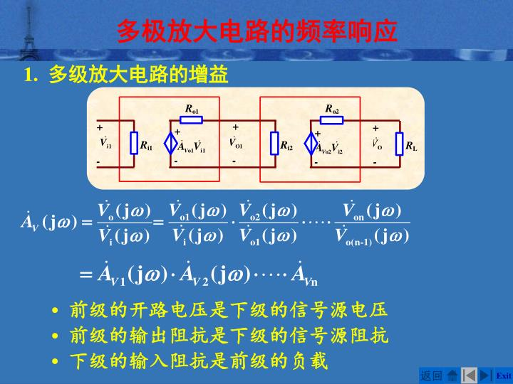多极放大电路的频率响应