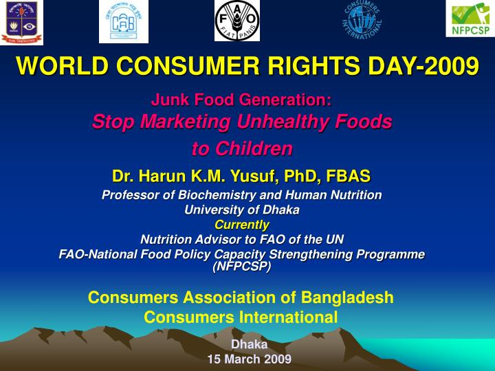 World consumer rights day 2009