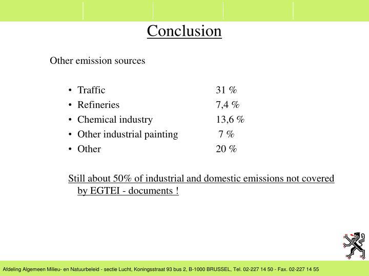 Other emission sources