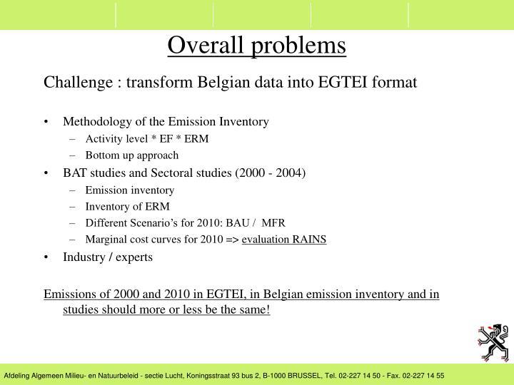 Challenge : transform Belgian data into EGTEI format