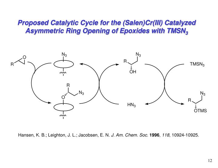 Proposed Catalytic Cycle for the (Salen)Cr(III) Catalyzed Asymmetric Ring Opening of Epoxides with TMSN