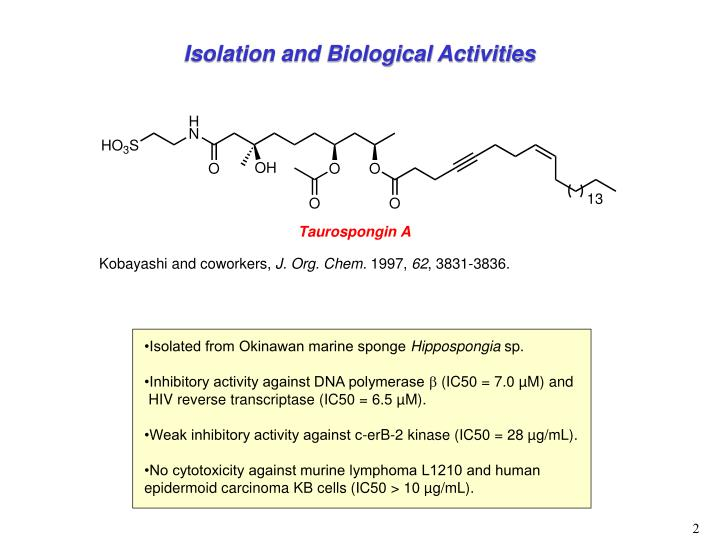 Isolation and Biological Activities