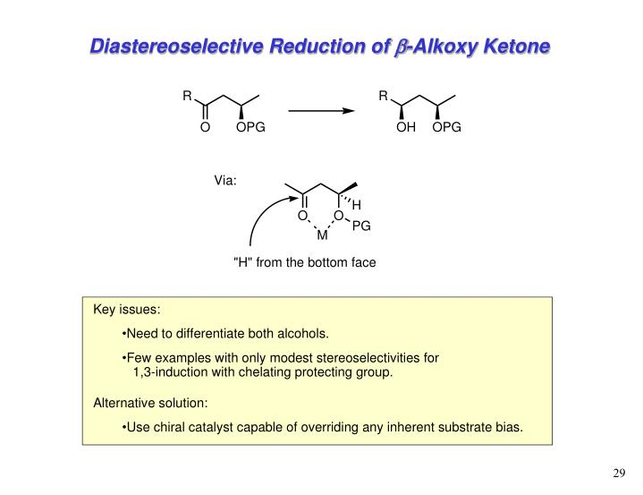 Diastereoselective Reduction of