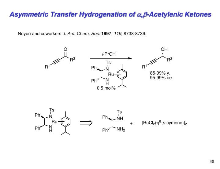 Asymmetric Transfer Hydrogenation of
