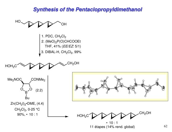 Synthesis of the Pentaclopropyldimethanol
