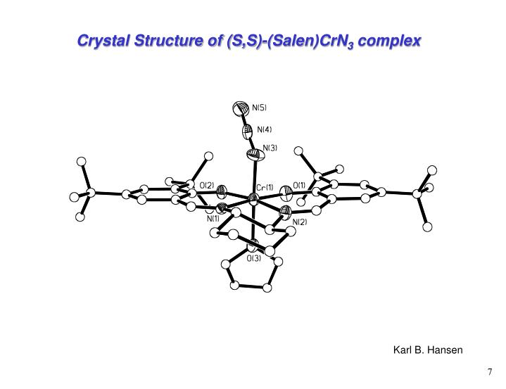 Crystal Structure of (S,S)-(Salen)CrN
