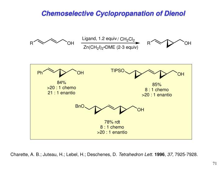 Chemoselective Cyclopropanation of Dienol