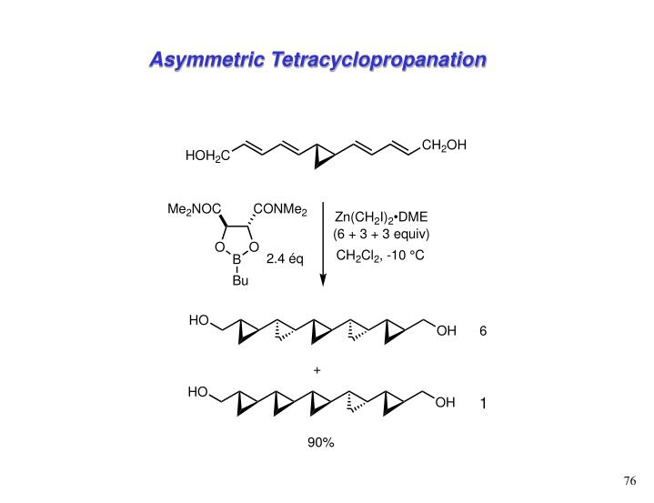 Asymmetric Tetracyclopropanation
