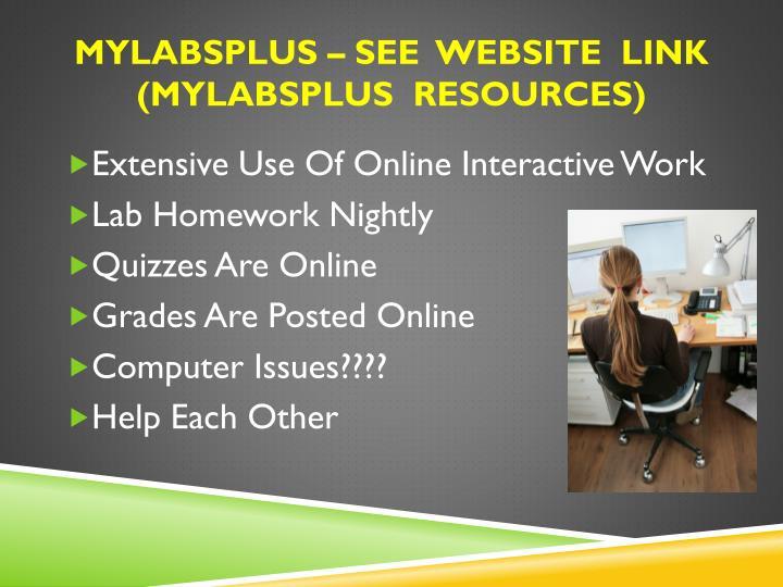 Mylabsplus – see