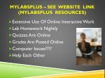 mylabsplus see website link mylabsplus resources