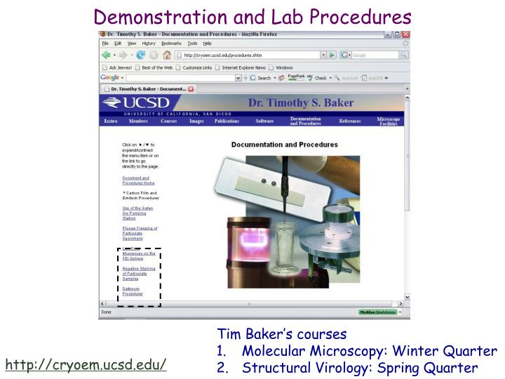 Demonstration and Lab Procedures