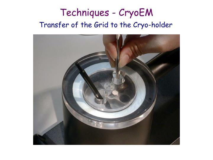 Techniques - CryoEM