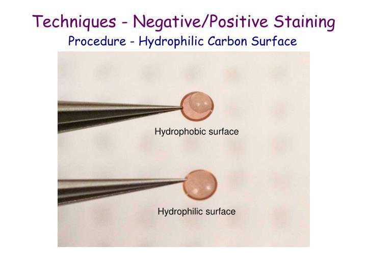 Techniques - Negative/Positive Staining