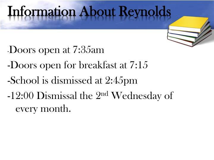 Information About Reynolds