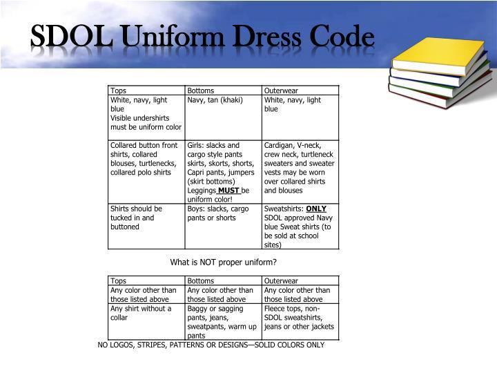 SDOL Uniform Dress Code