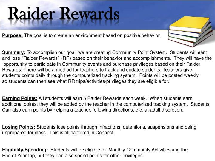 Raider Rewards