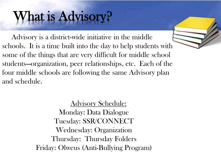 What is Advisory?