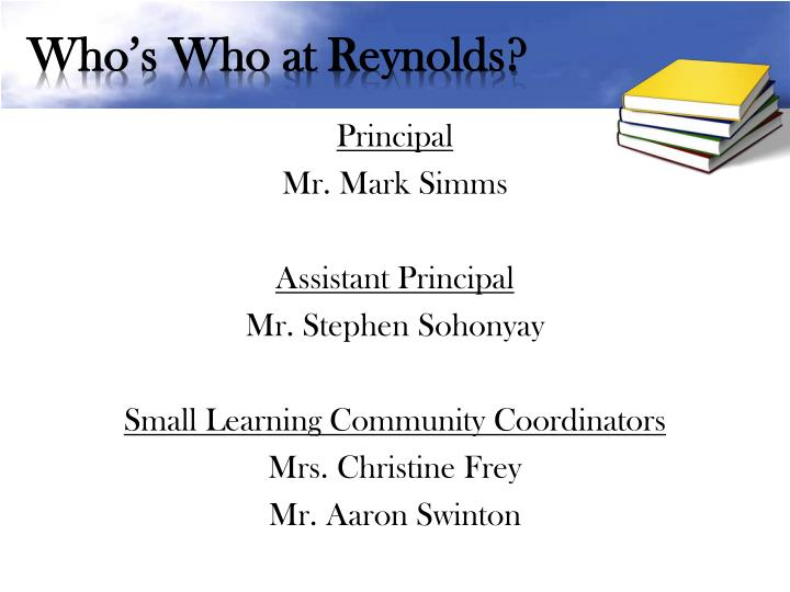 Who s who at reynolds