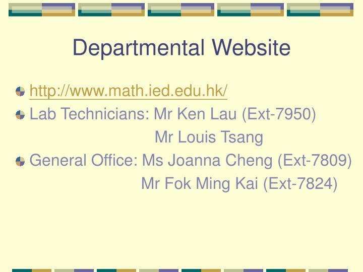 Departmental Website