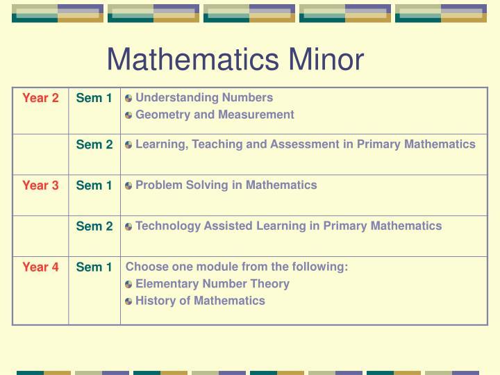 Mathematics Minor