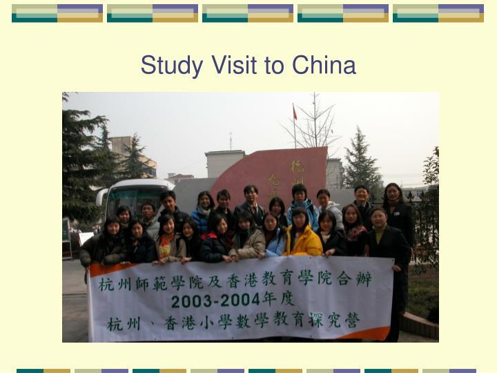 Study Visit to China