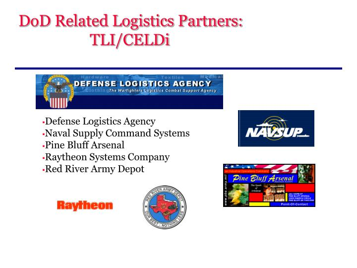DoD Related Logistics Partners: