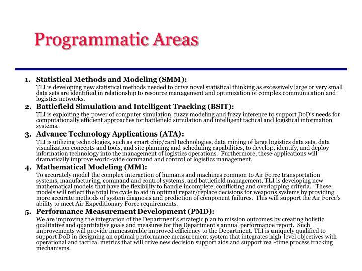 Programmatic Areas