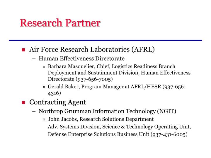 Research Partner