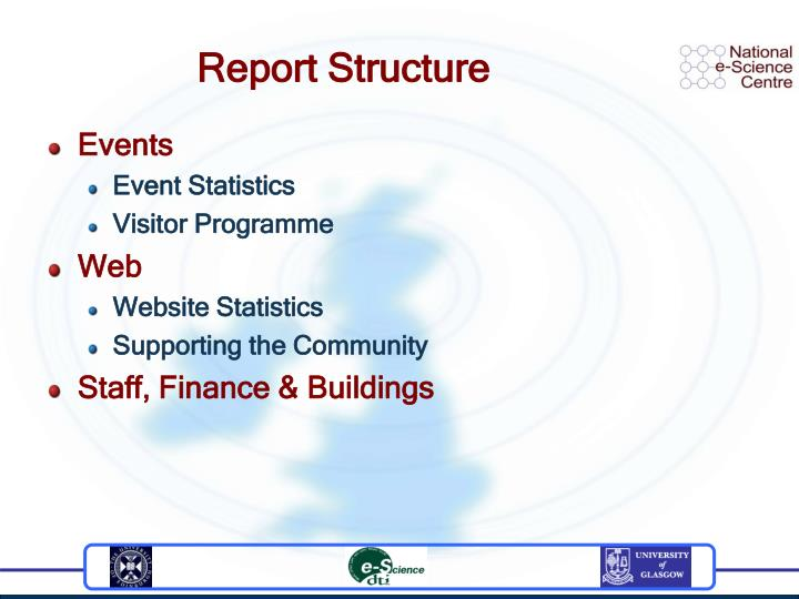 Report structure