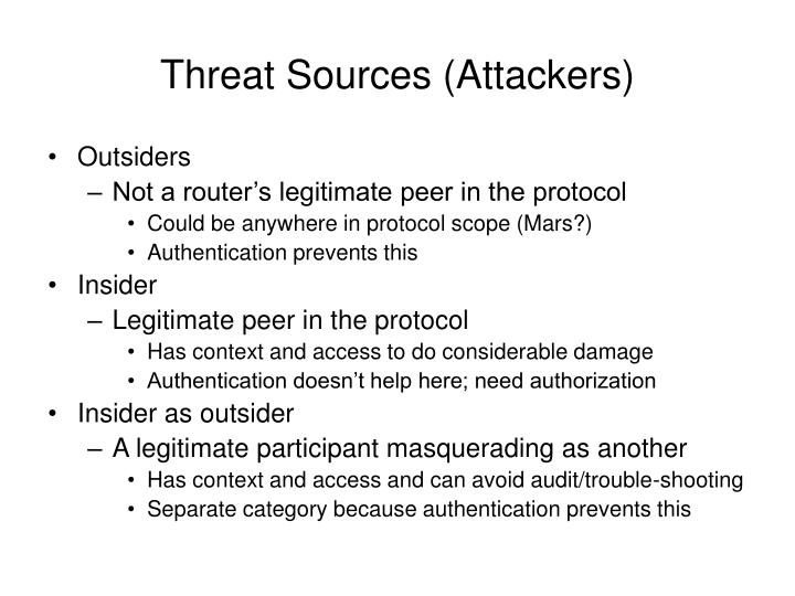Threat Sources (Attackers)