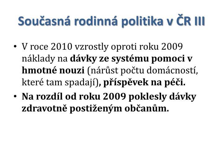 Současná rodinná politika v ČR