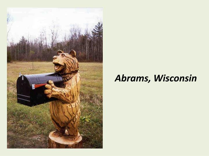 Abrams, Wisconsin