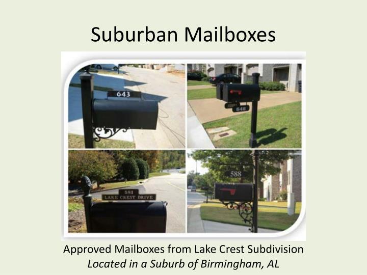 Suburban Mailboxes