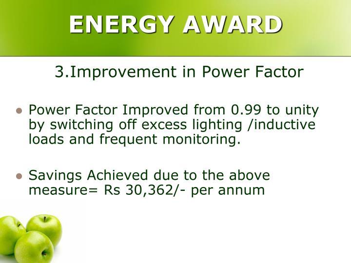 ENERGY AWARD